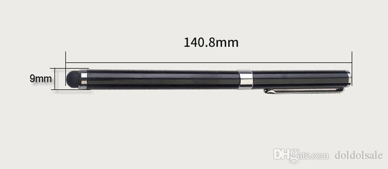 Universal 2 in 1 Multifunction Fine Point Round Touch Screen Pen Capacitive Stylus Pen for Smart Phone Tablet