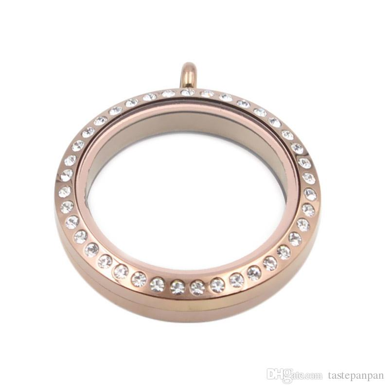 مجوهرات Panpan! دليل على المياه عالية الجودة 30 مم 316L الفولاذ المقاوم للصدأ تطور المناجد العائمة سحر مع بلورات