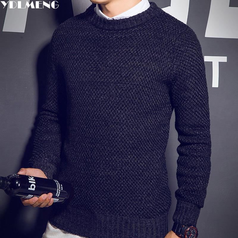 2018 Wholesale Ydlmeng O Neck Sweater Men Brand England Style ...