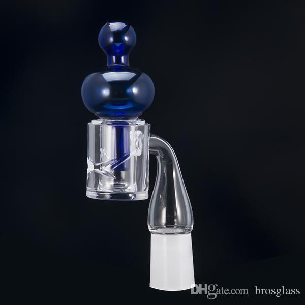 Coloured Glass Carb Cap 28mm Dia Runde Kugelkuppel für Quarz-Wärmebehälter