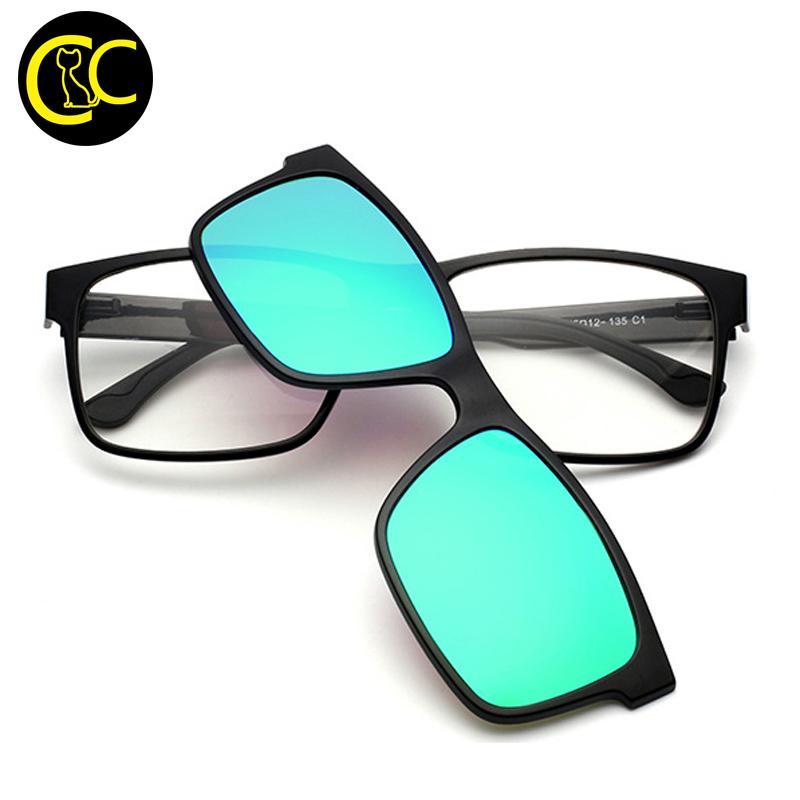 f7c233ccf9 Compre Al Por Mayor CLEARCODE Imán De Gafas De Sol De Uso Doble Adjunto  Desgaste Sobre Gafas Graduadas Polarized TR90 Clip En Gafas De Sol De  Miopía CC0881 ...
