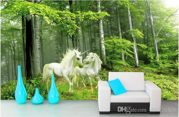 3d Room Wallpaper Custom Photo Mural Forest Guardian Unicorn Picture Room  Decor Painting 3d Wall Murals Wall Paper For Walls 3 D Pc Wallpapers For  Free Pc ... Part 70