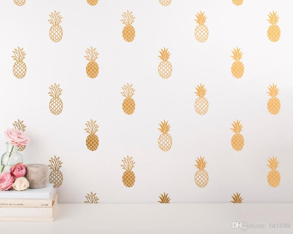 Pineapple Wall Decal Large Pineapples Wall Sticker for Kids Room Home decor Party Decor Nursery Wall Decal mural wallpaper D-986