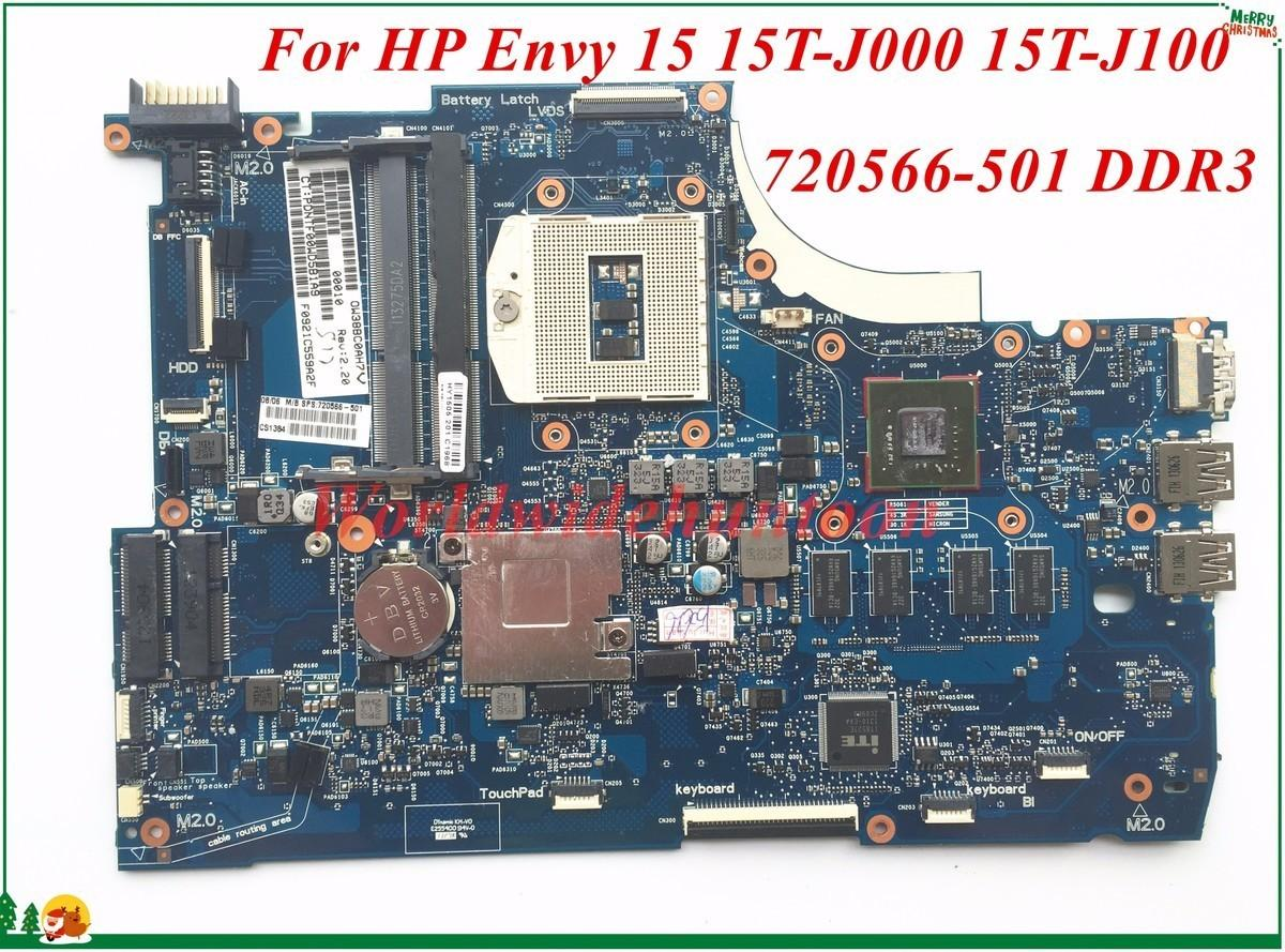 High Quality Motheboard 720566-501 For HP Envy 15 15T-J000 15T-J100 Laptop Motherboard PGA947 Non-Integrated DDR3 100% Tested