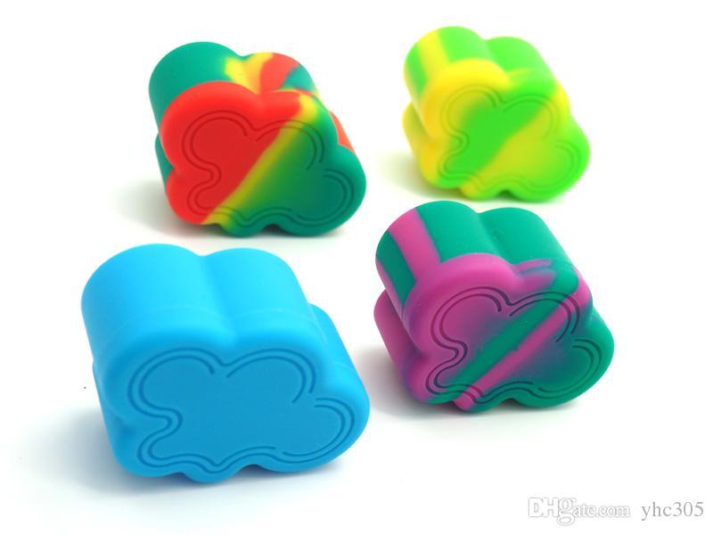 Bidons de cire, contenants, conserves, nuages, type DAB, 9 ml, silicone, conserves de silicone, contenants, multi couleurs