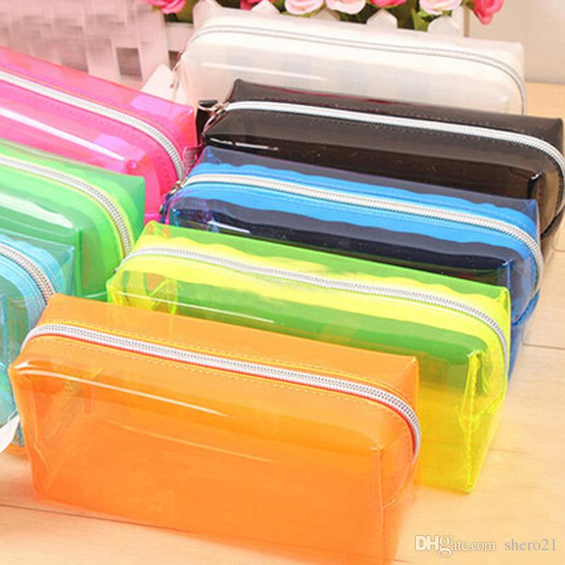 High Quality Colorful Pencil Bag Case For Pen Storage Stationery School  Prize Gifts Supplies Office Pencils Clear Bag Papelaria Pretty Pencil Cases  Soft ...