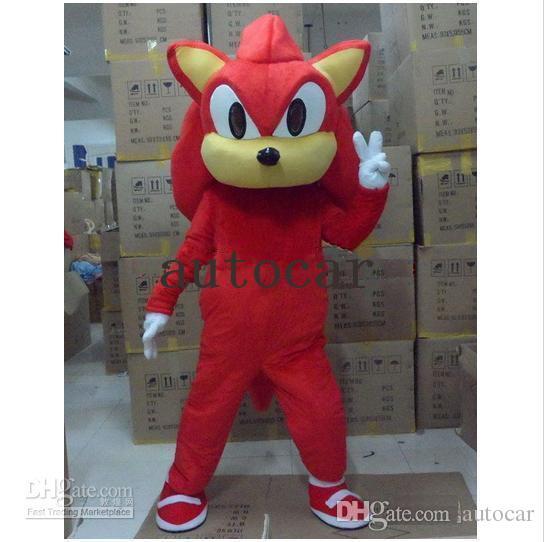 EPE Knuckles Sonic the Hedgehog Mascot Costumes Fancy Dress Halloween Tuta adulti