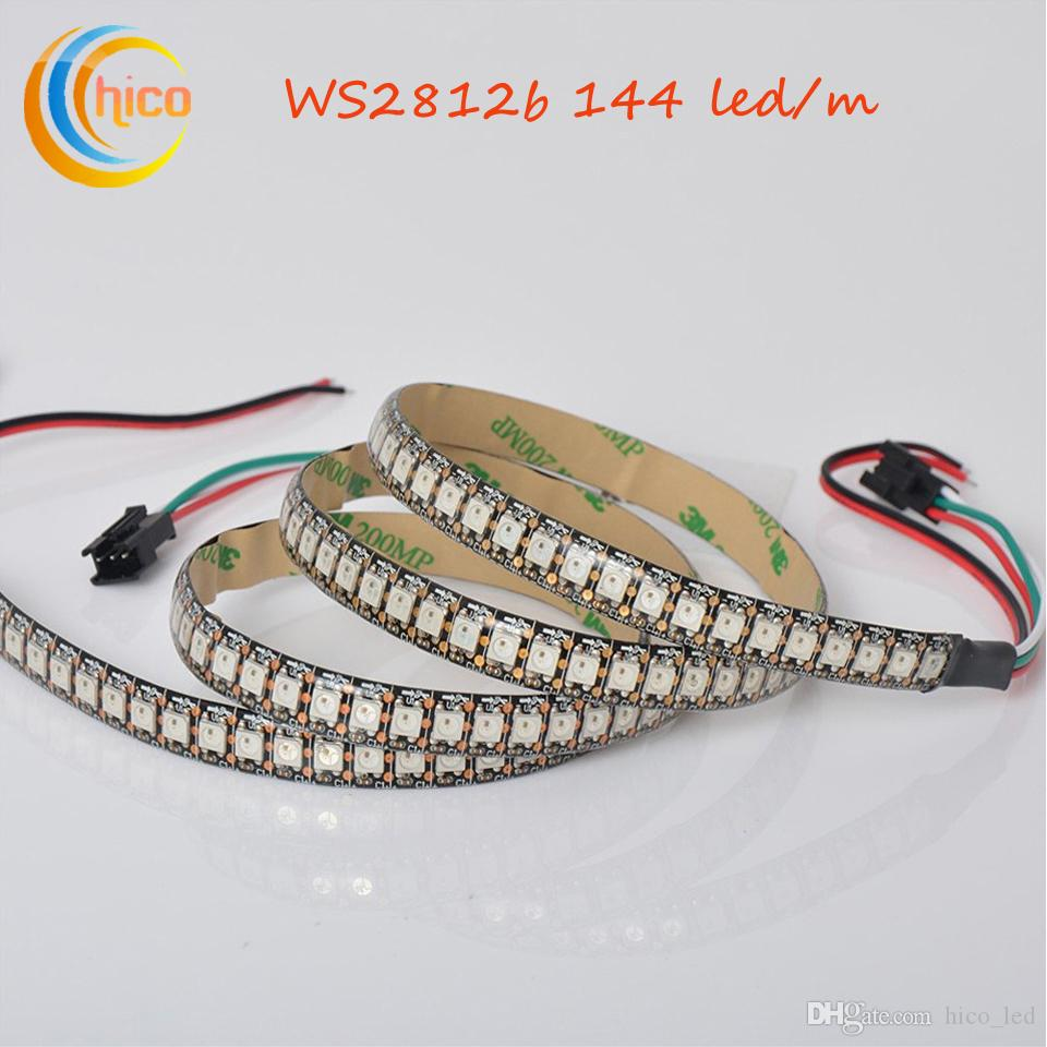 Led strip lights ws2812b ws2812 144ledm smd 5050 rgb strip light led strip lights ws2812b ws2812 144ledm smd 5050 rgb strip light dream color changeable effects waterproof black pcb dc5v bright led strips smd 5050 led aloadofball Gallery