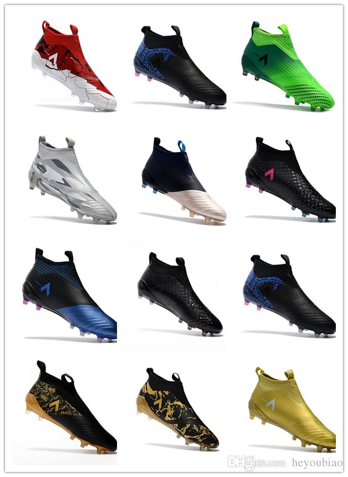 6b06f3a328d3 2019 ACE 17+ PureControl FG Soccer Cleats Laceless Outdoor Football Soccer  Shoes Sock Ultra Boots Size 39 45 From Heyoubiao
