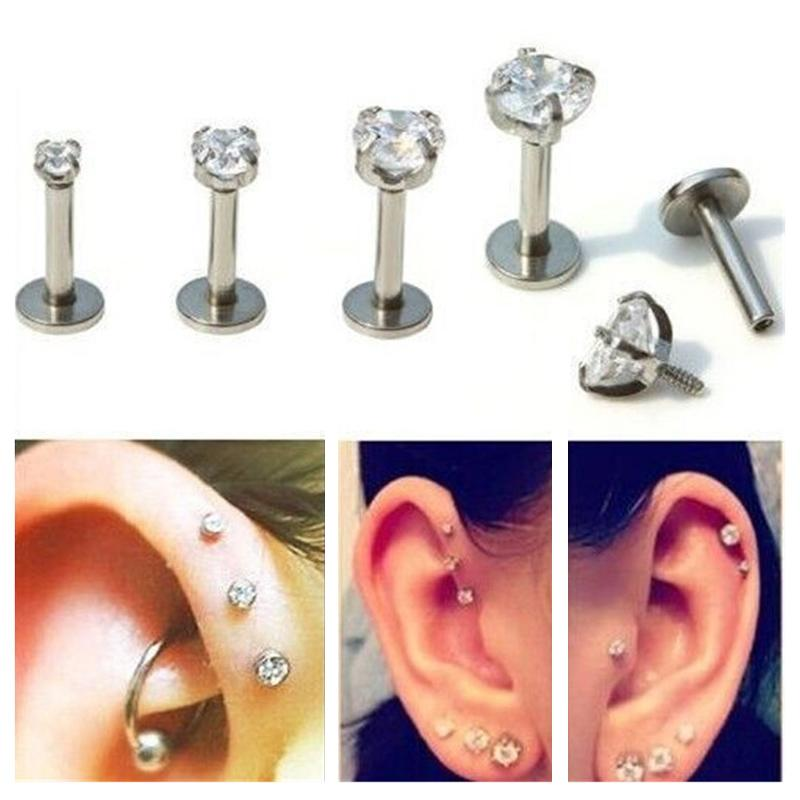 7577c3ab0 2019 Punk Bar Lip Ring Stud Piercing Labret Piercing Tragus Acrylic  Stainless Steel From Jacky20161008, $2.34 | DHgate.Com