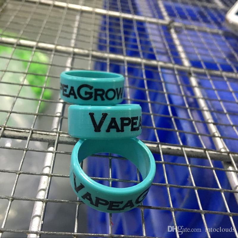 Anello in silicone personalizzato bande di vape con logo stampato ecig con il tuo testo o sito web