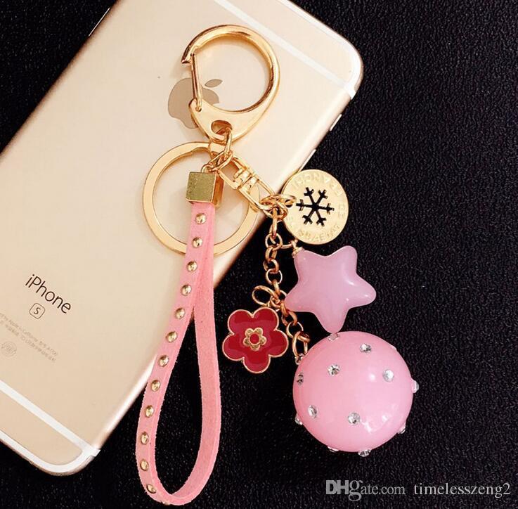 Candy couleur couple porte-clés acrylique à cinq branches étoile porte-clés exquis sacs pendentif décorations plus de couleur différente