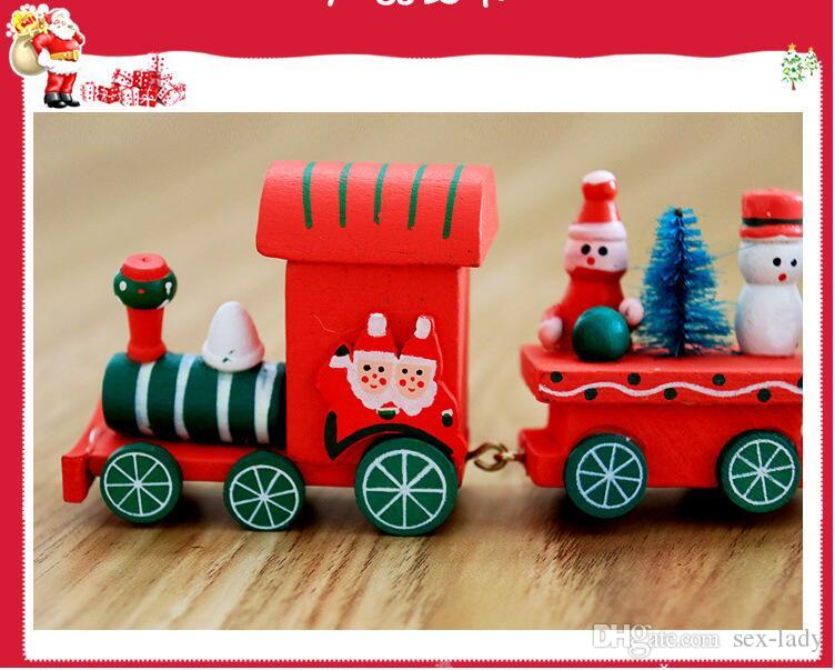 Toy Intelligence Wooden Wood 3d Iq Puzzle Magic Cube Toy Carriage Wood Christmas Xmas Train Ornament Decoration Kids Gift Toys