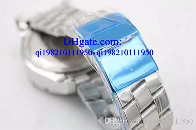 명품 시계 Free box Diamond Bezel 밀키 다이얼 50mm 남성용 손목 시계 플래티넘 해골 Full Stainless Steel Bracelet 크로노 미터 남성 아날