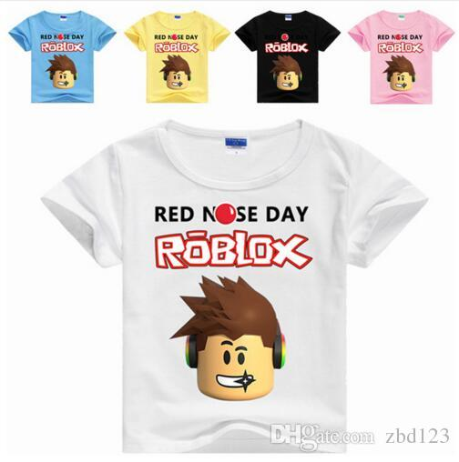 2017 New Kids Boys Clothes Children T Shirt Girls Tops Tees Cartoon Tshirt Kids Clothes Roblox Red Nose Day Stardust Boy T Shirt