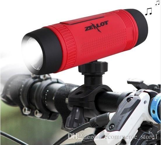 Zealot S1 Bluetooth Hoparlör Kablosuz Smartphone PC Bisiklet Açık Sports Güç Bankası LED Flaş Işık ile Taşınabilir Su geçirmez subwoofer