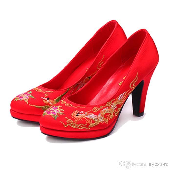 Compre Casa Alto Estilo Que Tacón De Chino Se Zapatos Rojos wq6wOxran d8c935274598f