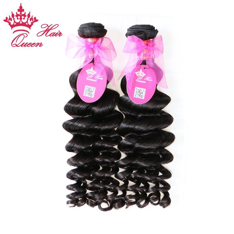 Queen Hair Products Braziliaanse Virgin Haar Weave More Wave Natural Color Snelle verzending