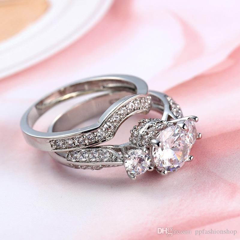 2017 l'Europe et les États-Unis mode dames zirconium anneau, ensembles créatifs de bijoux, de haute qualité anneau bijoux en gros
