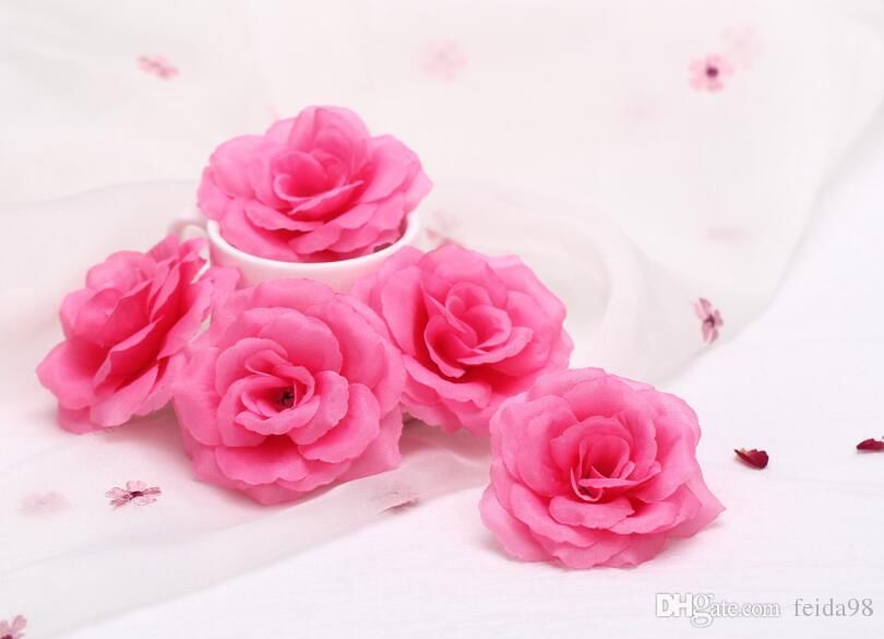 Yeni Varış Ipek Yapay Çiçek Tek Şakayık Gül Kamelya Düğün Noel 8 cm 15 Renkler