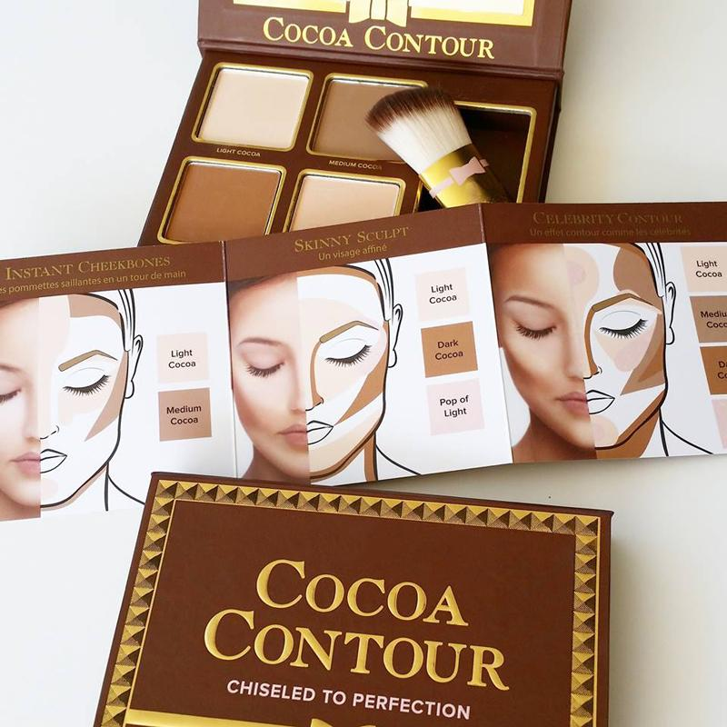 New Makeup COCOA Contour Highlighters Palette Nude Color Face Concealer Chocolate Eyeshadow with Contour Buki Brush 660184-1