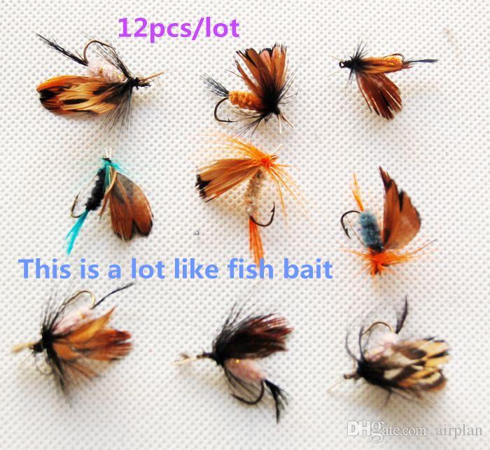 Großhandel an Fischköder Insekt Köder Bionic Fliegen Schmetterlinge Fliegen Künstliche Köder Getriebe Legurre Peche Pesca Haken