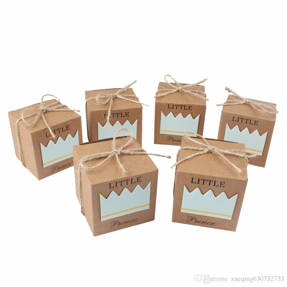 Paperboard Gift Boxes For Baby Shower Blue Decorations Wedding ...