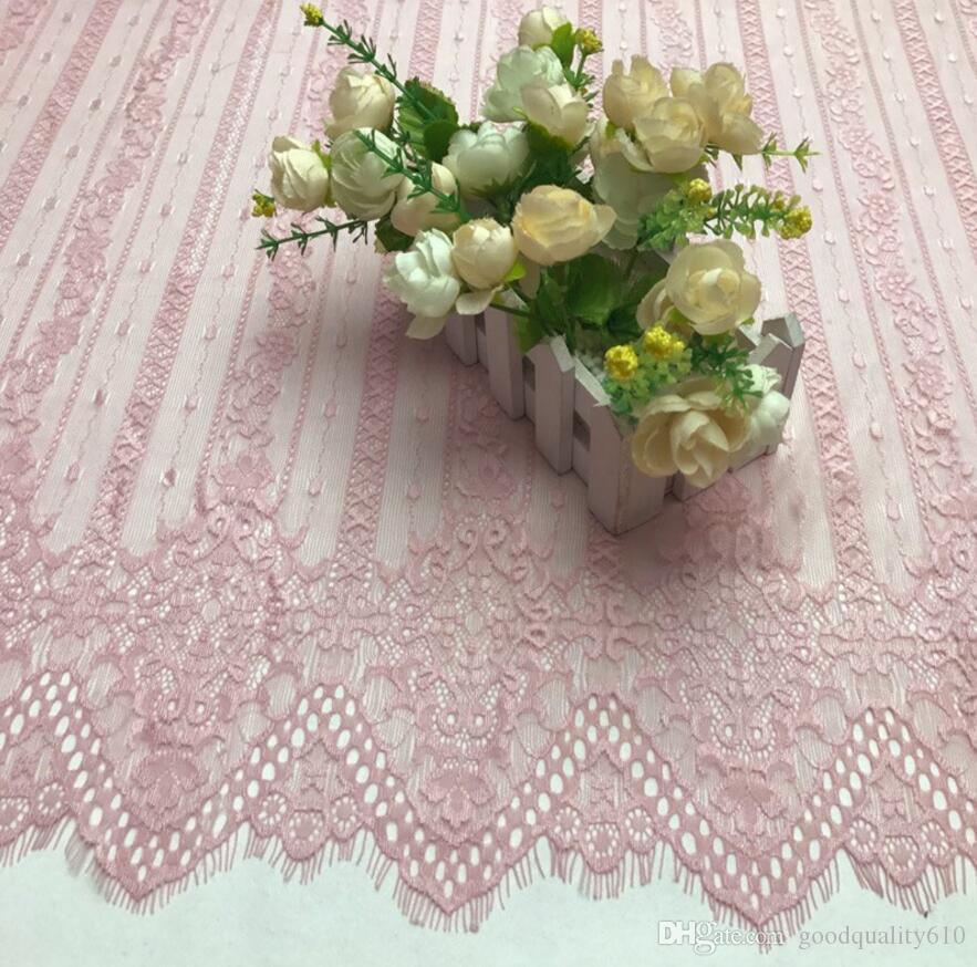 150 * 91cm Tessuto di pizzo guipure in pizzo con striscia di nappa e fiore sexy abbigliamento Cucito Abito da sposa Bambola fai da te