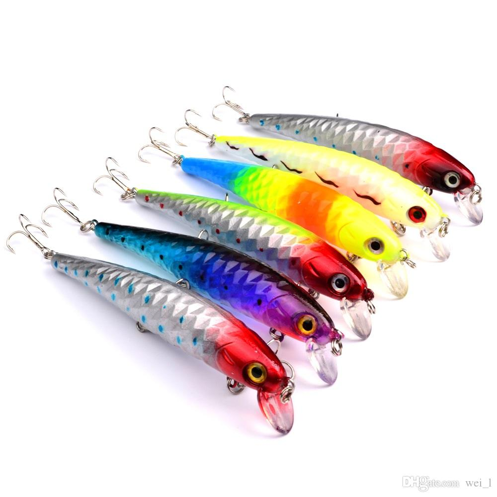6-colors 12 cm 15 g Hard plastic lures fishing hooks 3D Minnow Fishing baits 4# Hook Artificial Pesca Tackle Accessories