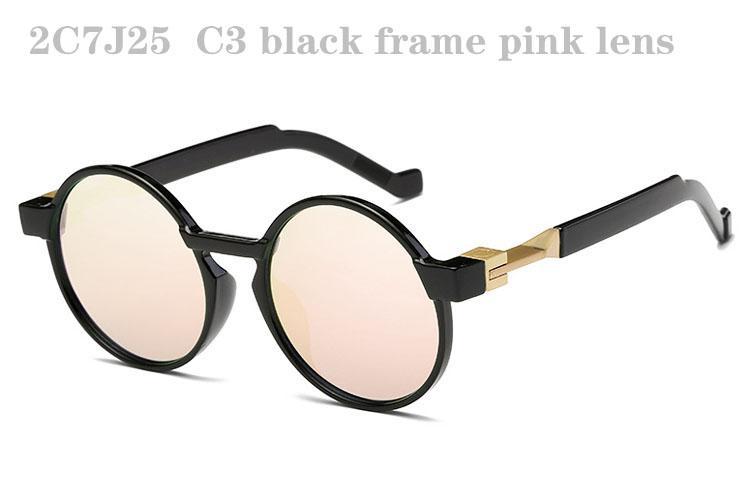 Occhiali da sole uomo Donna Moda Occhiali da sole Donna Retro Occhiali da sole Uomo Occhiali da sole rotondi Occhiali da sole designer di tendenza Specchio 2C7J25