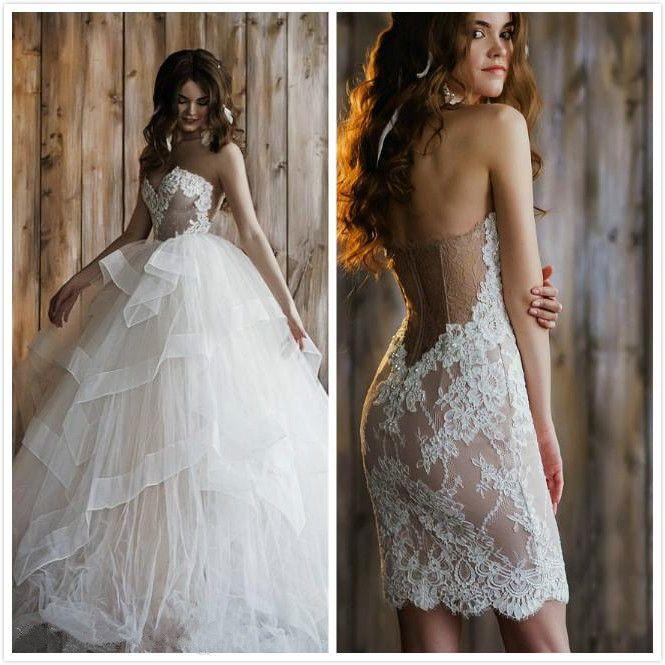 Naked nude wedding dresses