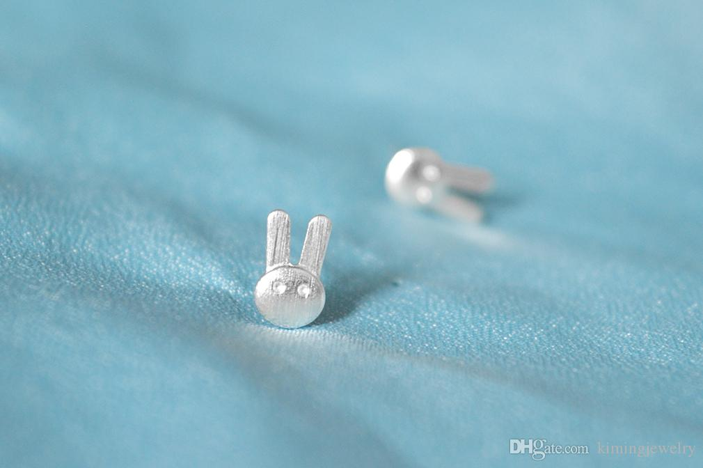 New Fashion Exquisite 925 Sterling Silver Statement Jewelry Animal Charm Rabbit Piercing Stud Earring for Girls Brincos