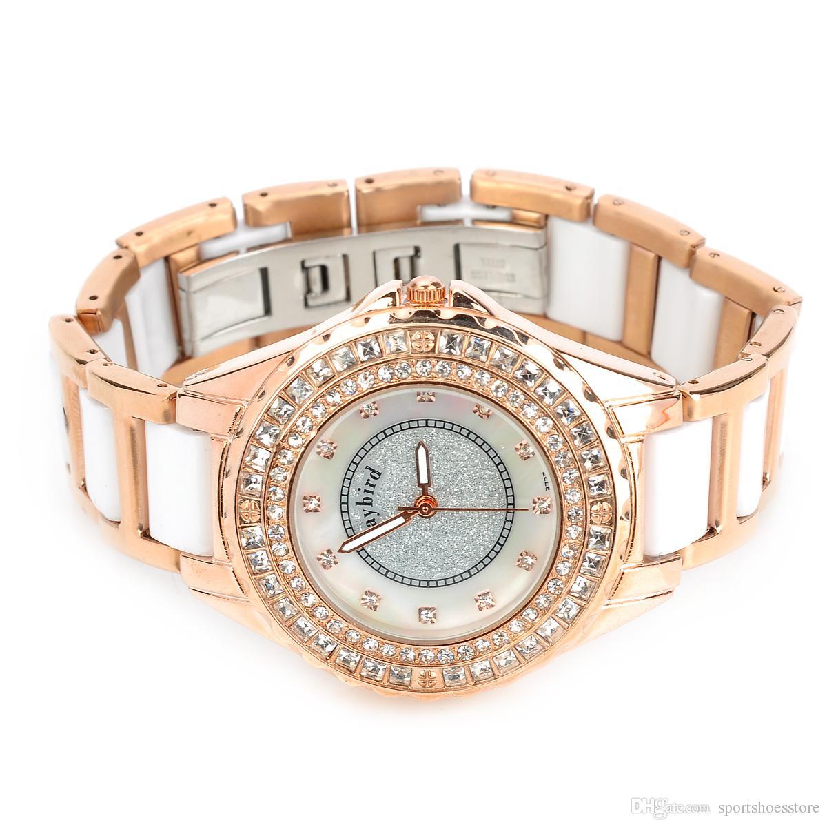 Daybird 3713 - Montre-bracelet à quartz avec bracelet en céramique et quartz pour femme - Doré 1 x LR626