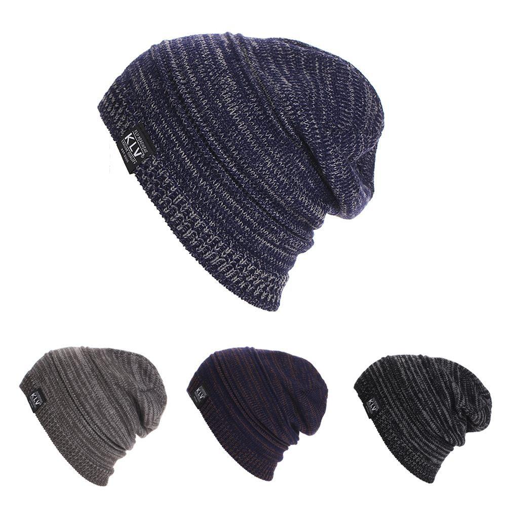 cappello da uomo Beanie hat Knit Berretto da donna ampio Baggy Oversize Cappello caldo da sci Ski Slouchy Chic Berretto lavorato a maglia SkullDM # 6