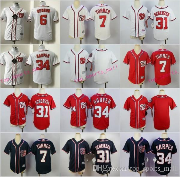 buy popular 08ba9 9b4c4 washington nationals blank white kids jersey