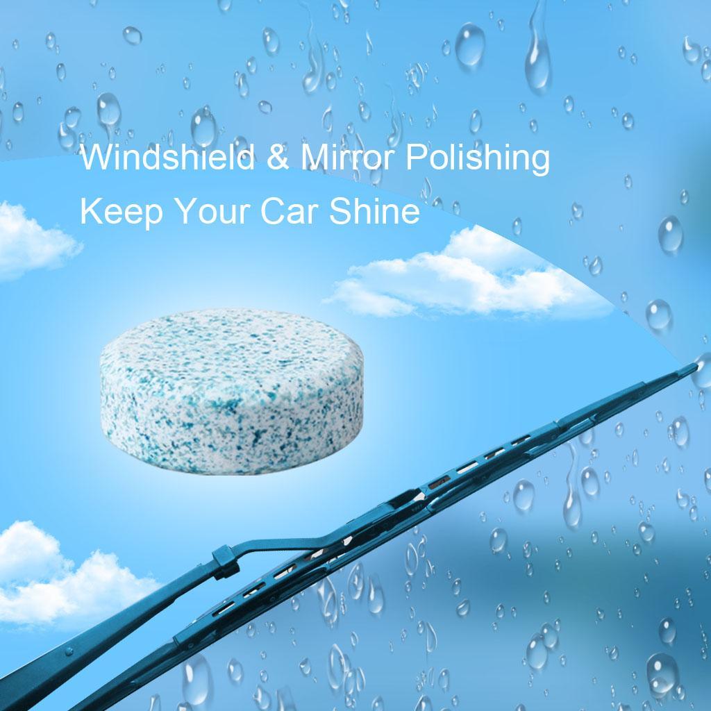6 pezzi / lotto auto parabrezza compatto vetro rondella pulitore pulito compresse effervescenti detergente tergicristallo solido rondella del parabrezza istantaneo