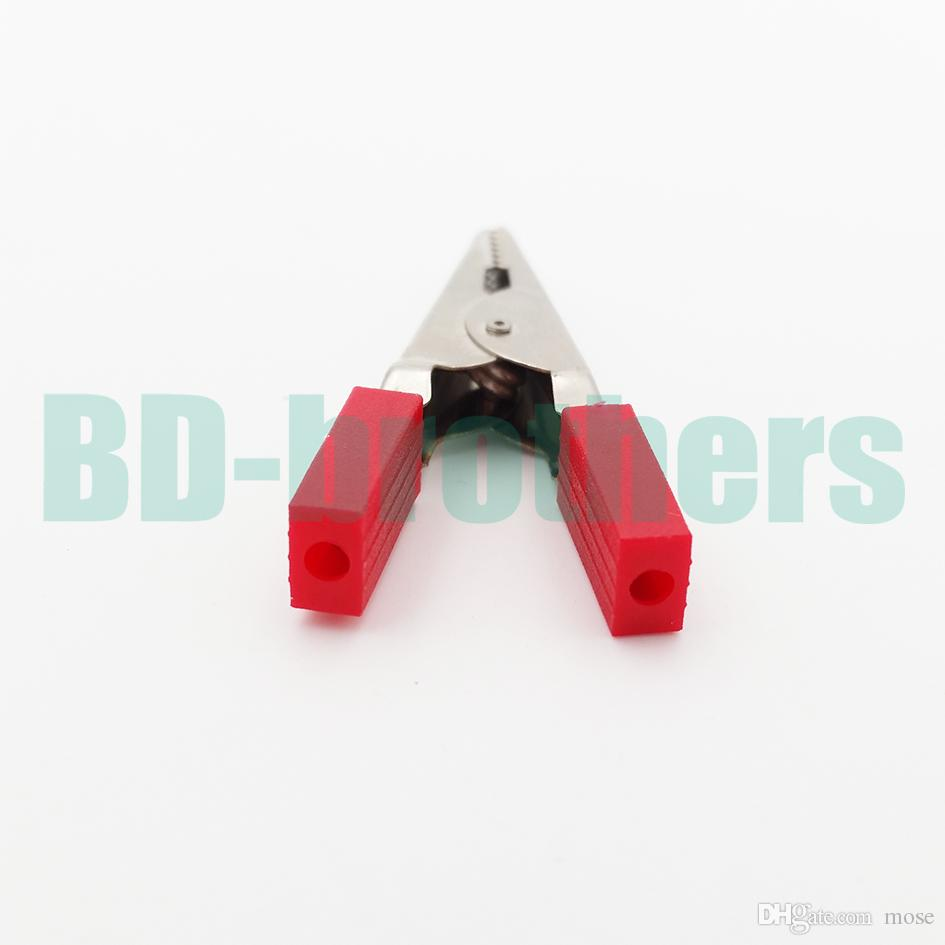 Alligator Clip Clamp Connector 45MM Insulated Test Lead Crocodile Clamps