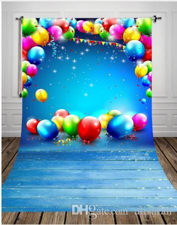 2018 5x10ft fantastic balloon printed festival backdrops for baby