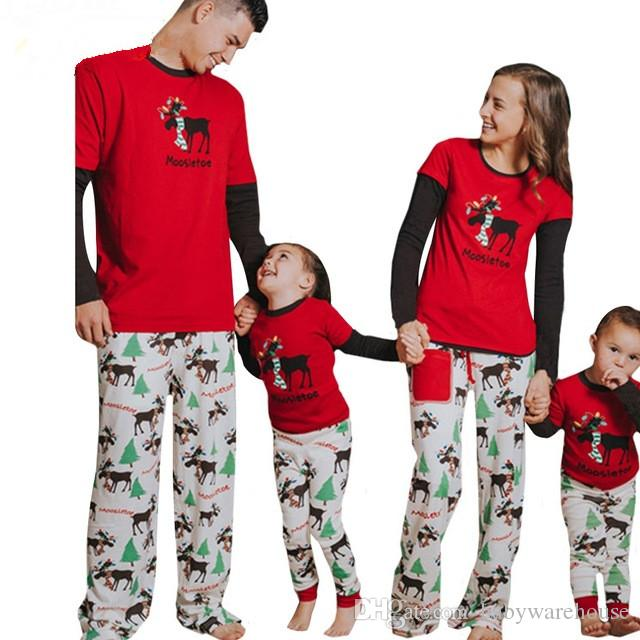 Newest Christmas Pajamas Family Look Elk Christmas Tree Printed Tops Pants  Suit Home Pajamas Sets Family Clothing Sets Matching Outfits Hawaiian  Matching ... 1d31c4043