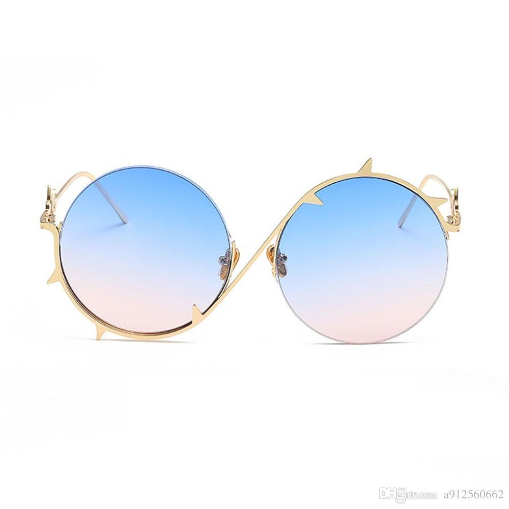 Großhandel Runde Metalldornen Rahmen Frauen Mode Sonnenbrillen Marke ...