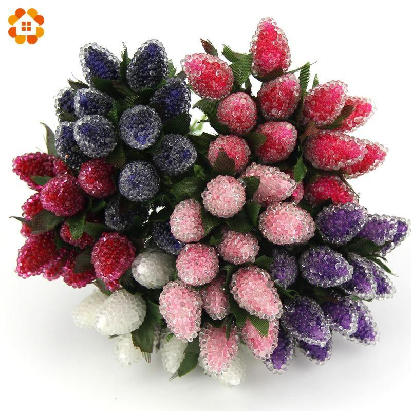 2018 New Plastic Artificial Strawberry Flower Bouquet For Home Party ...