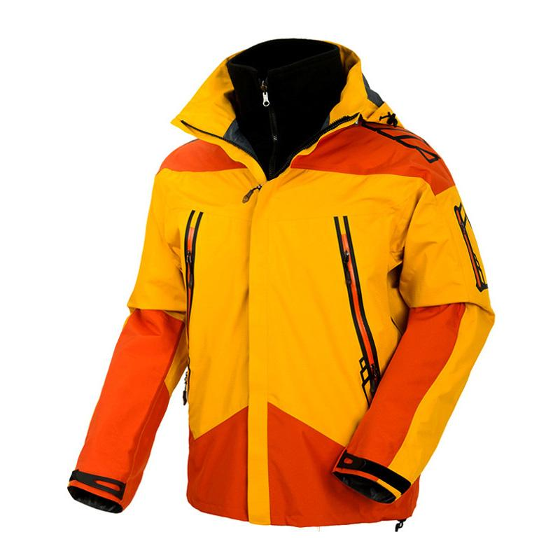 Men Spring Winter Outdoor Camping Tech Fleece Softshell Athletic Two- Pieces Jacket Waterproof Windproof Anti-UV Fishing Ski Hiking Coats