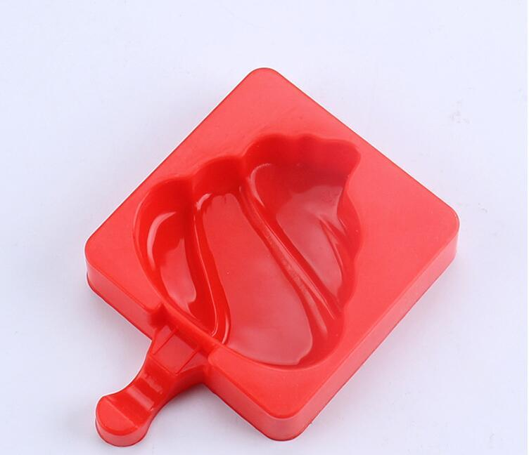 NEW Homemade Silicone Cute Ice Pop Molds Popsicle Molds Ice Trays Ice Cream Maker Frozen Holder Mould with Sticks Kitchen Tools