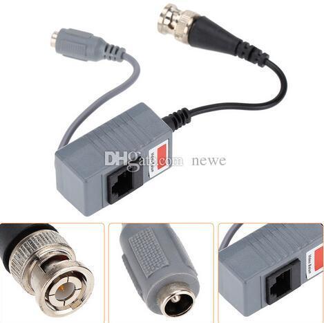 CCTV Kamera Aksesuarları Ses Video Balun Telsiz BNC UTP RJ45 Video Balun ile Ses ve Güç üzerinde CAT5 / 5E / 6 Kablo