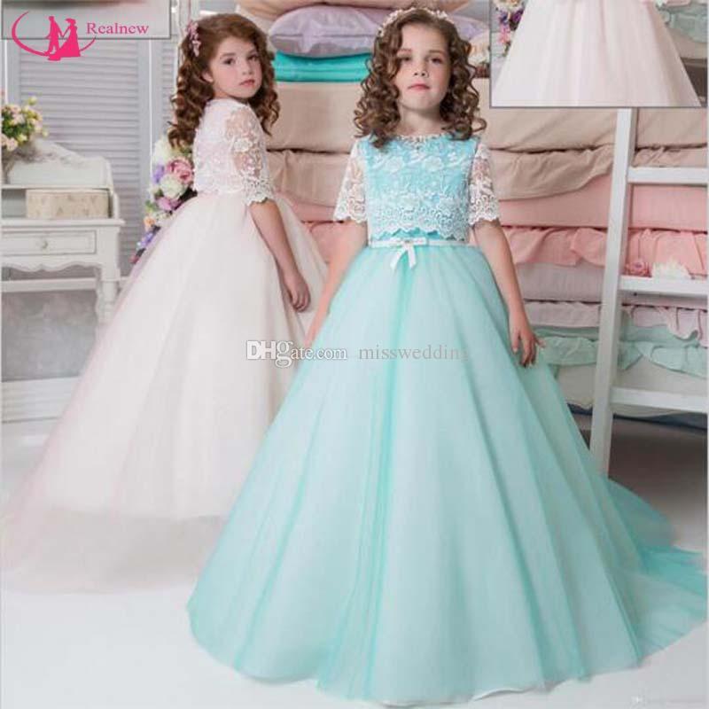 Misswedding Formal Design Flower Girl Dresses With Detachable Lace ...