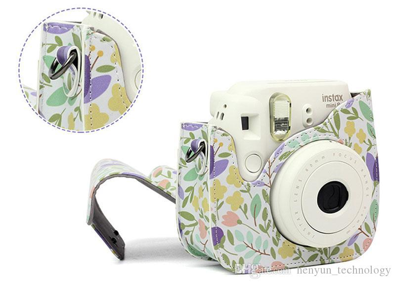 Листья PU Кожаная камера Чехол Сумка для Fujifilm Polaroid Instax Mini8 / Mini 9