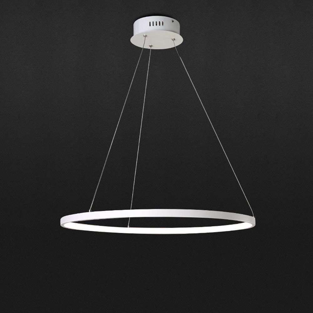 Led pendant lamp 1 ring pendant modern lighting lamp for living room led pendant lamp 1 ring pendant modern lighting lamp for living room dining room kitchen acrylic and aluminium lamp 25w warm 40cm modern pendants hanging aloadofball Choice Image