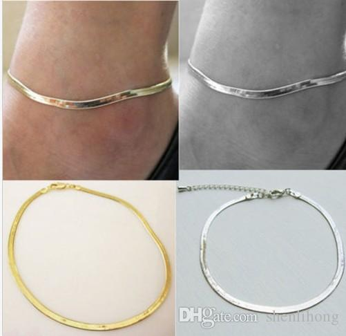 fashion snake chain anklet cute fish scale copper material gold silver anklet high quality luxury accessory