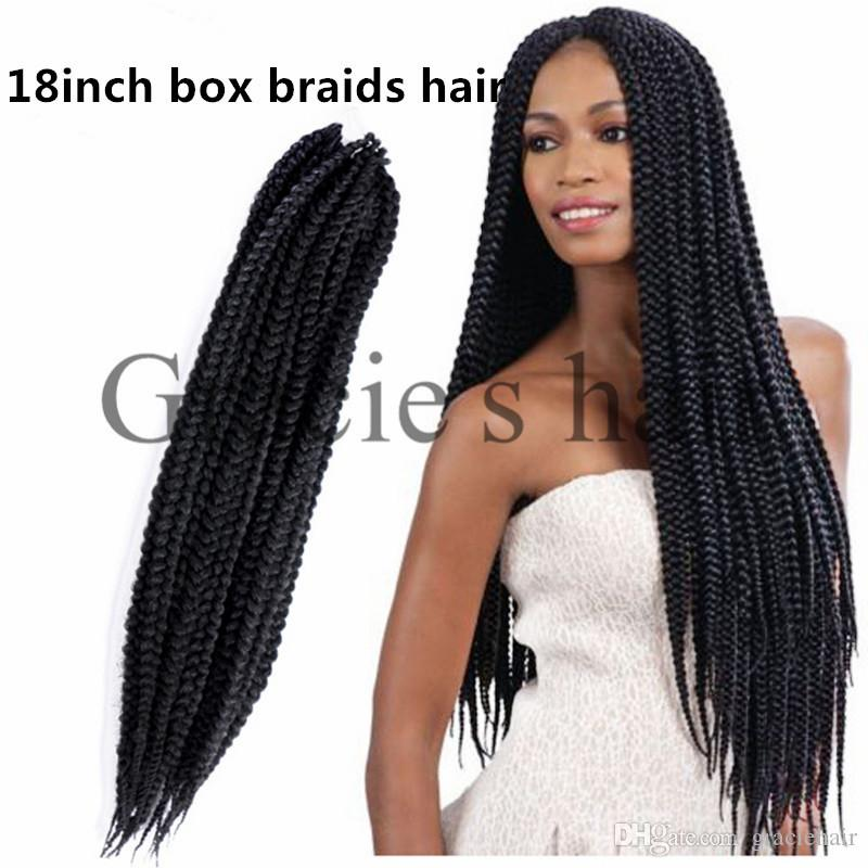 2018 Synthetic Box Braiding Hair Extensions 18inch 20rootspcs