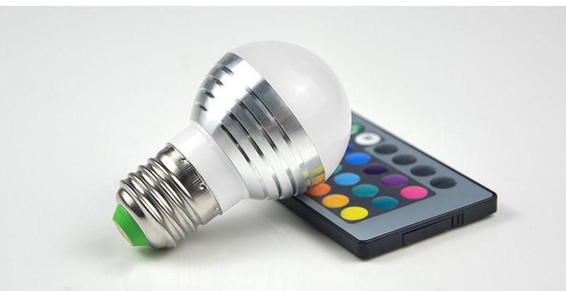 E27 E14 LED 16 Farbwechsel RGB rgbw Glühbirne Lampe 85-265 V RGB Led Licht Scheinwerfer + IR Fernbedienung